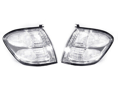 CLEAR Front Corner Signal Lights Set w/ Bulbs Fit For 01 02 03 04 Toyota Sequoia (Toyota Clear Corners)