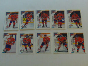 10 STICKERS DE HOCKEY DES CANADIENS PANINI 1993-94