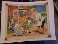 Lot of 7 1940/50s Vintage Nursery Classroom Picture Prints £30 ono