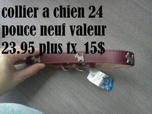 collier a chien neuf 24 pouce