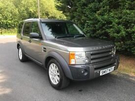 2007 (57) LAND ROVER DISCOVERY 3 SE 2.7 TDV6 MANUAL 4X4 7 SEATER TURBO DIESEL