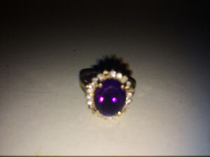 12k gold diamond&amethyst jewelry set need gone ASAP