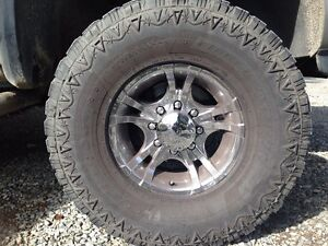 """For TRADE. 33"""" tires and mags."""