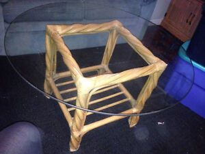 Bamboo Coffee table and matching rectangle shelf. London Ontario image 3