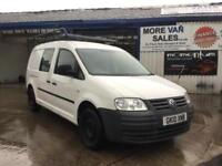 2010 1 owner Volkswagen Caddy Maxi 1.9TDI 104PS 5seat Maxi van fold down seats