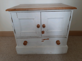 Solid Pine Television Unit Cabinet Cupboard