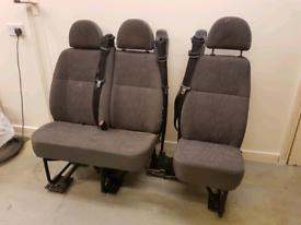 3 rear van seats ford Transit/nissan/ Renault /transit van seats