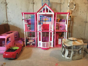 Barbie House, Car and Camper