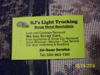 24/7 LIGHT TRUCKING+JUNK&GARBAGE REMOVAL.