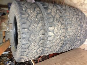 """4 used tires 3/8"""" center of tire"""