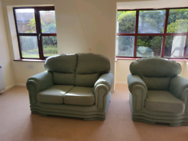 FRE green sofa and chair