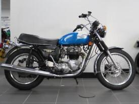 1980 TRIUMPH BONNEVILLE T140 MATCHING NUMBERS RECENTLY RESTORED BRIGHT BIKE