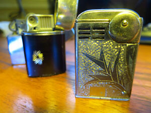 2 Vintage zippo style lighters