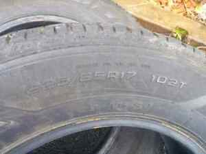 For Sale: Two 225 65R 17 Studded Goodyear Ultragrip Winter Tires St. John's Newfoundland image 2