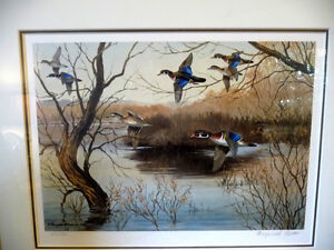 "Hand Signed and Numbered, Maynard Reece ""Wood Ducks"" Lithograph Stratford Kitchener Area image 2"
