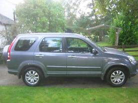 54 HONDACRV, 2.0, VTECH, EXECUTIVE, 4X4, 5 DOOR, GREY METALLIC, BLACK LEATHER