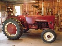 1961 International B-250 Diesel Tractor and Disc Harrow