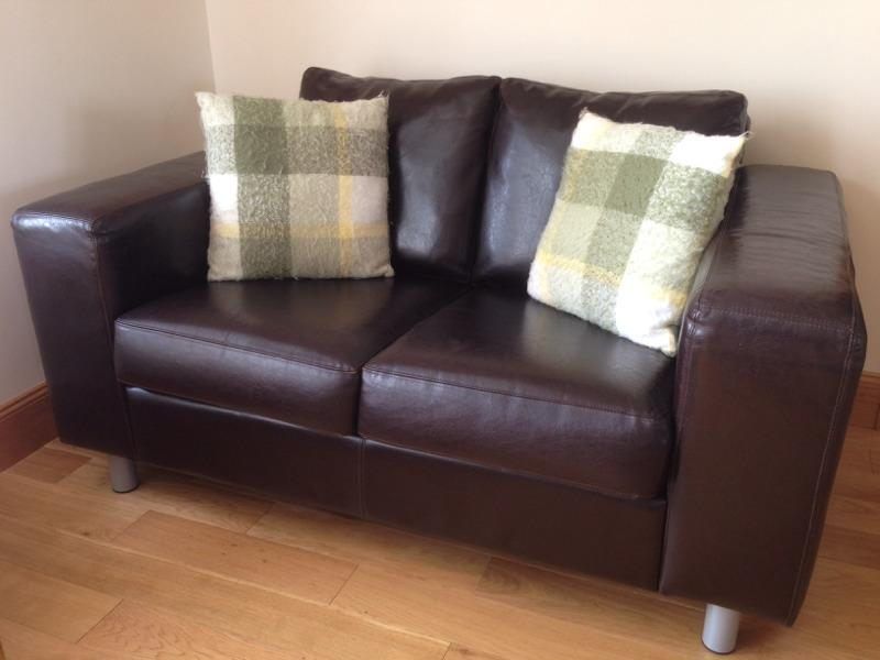 Montrose Coffee Table Two seater brown leather sofa | in Montrose, Angus | Gumtree