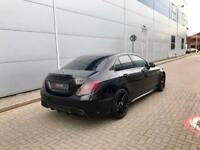 2015 15 reg Mercedes-Benz C63 AMG 4.0 Saloon Black + ALL BLACK STYLING+ BIG SPEC
