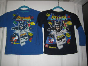 2 Batman lego shirts and a cool hooded Batman sweatshirt