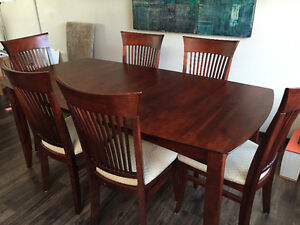 Solid birch dining set -seats 8
