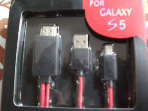 Micro USB Adapter HDTV HDMI Cable For Samsung Galaxy s5 S4