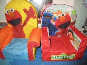 P A I R  of  Seasame Street ;  Children's Chairs  or $15 for (1)