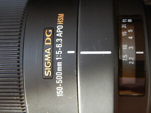 Sigma 150-500mm telephoto lens Canon Mount Prince George British Columbia image 2