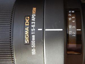 Sigma 150-500mm telephoto lens Canon Mount Prince George British Columbia image 2