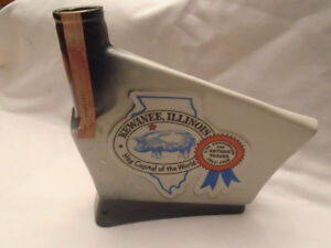 ANTIQUE BOUTEILLE DE WHISKEY 1968 KEWANEE, ILLINOIS