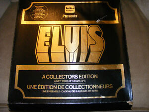 A 1976 COLLECTORS EDITION 5 ELVIS LPS AND SPECIAL TV EDITION PHO