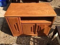 WOODEN TELEVISION TV CABINET DRAWER