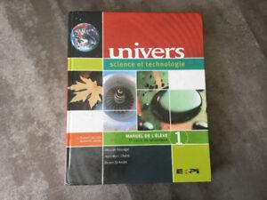Univers, Manuel de l'élève 1