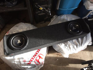 Honda Ridgeline enclosed box and subwoofers
