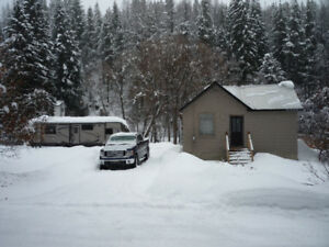 Kimberley 1.2 acres with 2 bedroom 1 bath house and trout creek