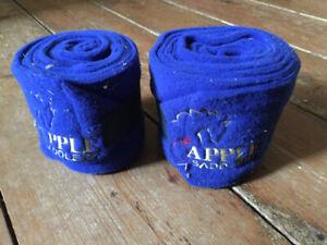 Fleece horse/pony leg wraps, x2, never used