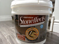 Rustoleum Stoneffects- concrete/wood paint