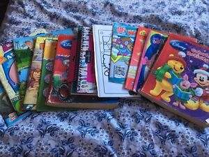 Colouring books, activity books, first grade workbooks