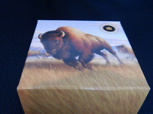 Royal Canadian Mint $100 for $100 BISON 1oz. PURE SILVER 99.99%