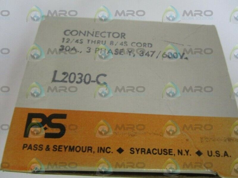 PASS & SEYMOUR LEGRAND L2030-C CONNECTOR *NEW IN BOX*