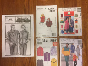 5 adult sewing patterns