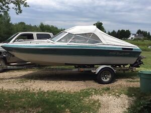 1992 Conquest boat and trailer
