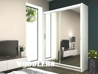 BRAND NEW CHICAGO BEST OFFER 2 DOOR SLIDING WARDROBE WITH FULLY MIRRORED
