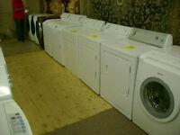 Large selection of washers and dryers. 90 day warranty.$149 &up