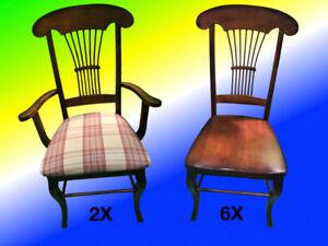 8 chaises de salle à manger Bermex haute gamme