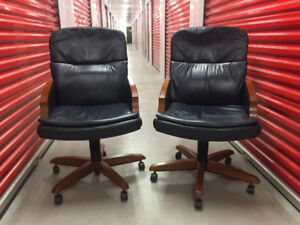 Krug Leather Office/Conference Chair Cherry Finish ~ 1 Available
