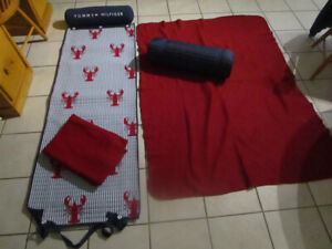 TOMMY HILFIGER BEACH MATS WITH PILLOWS price is for the pair