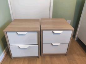 Ikea askvoll 2x bedside tables 41cm x 48cm