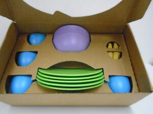 Children' Dish Set Cups Plates Bowls Cutlery