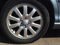 Jaguar XTYPE ford mondeo 16inxh full set alloys and tyres mint